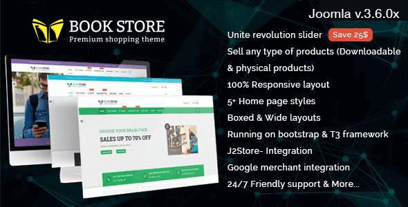 bookstore-responsive-joomla-ecommerce-template