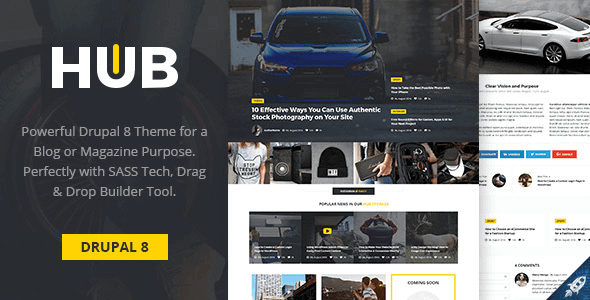 hub-creative-blog-magazine-drupal-8-theme
