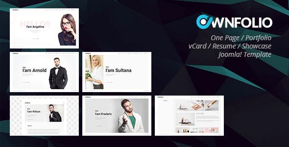 ownfolio-one-page-personal-portfolio-vcard-resume-showcase-joomla-template