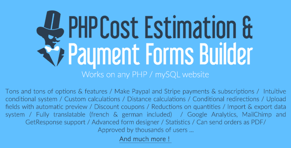 php-cost-estimation-payment-forms-builder