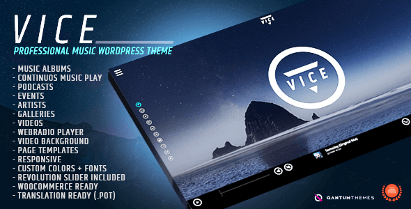 Vice 1.8.3 – Music Band, Dj and Radio WordPress Theme