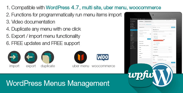 wordpress-menus-management